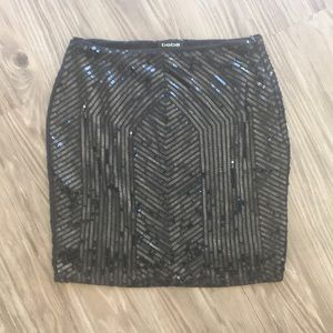 BeBe sequin mini skirt( new)